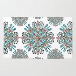The middle of the Earth mandala Rug