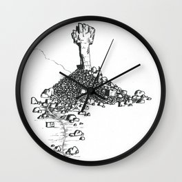 Rock Cross Wall Clock