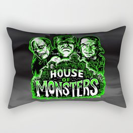 House of Monsters Phantom Frankenstein Dracula classic horror Rectangular Pillow
