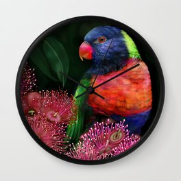 Lorikeet Wall Clock