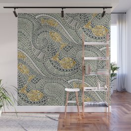 mosaic fish Wall Mural