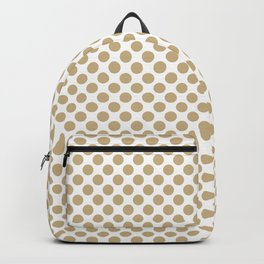 Large Christmas Gold Polka dots on White Backpack
