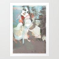 death Art Prints featuring Death  by Felicia Cirstea
