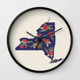 The Empire State of Flowers Wall Clock