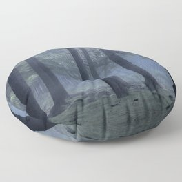 Forest atmosphere - Kessock, The Highlands, Scotland Floor Pillow