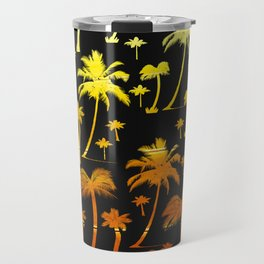 golden tropical forest digital pattern Travel Mug