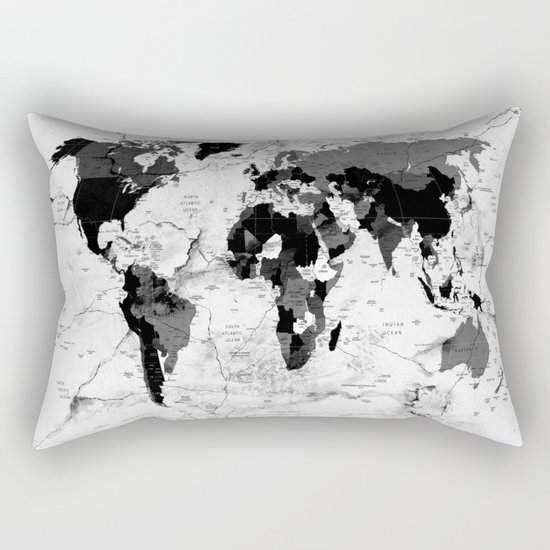 world map political marble Rectangular Pillow