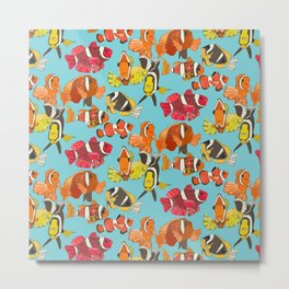 clownfish blue Metal Print