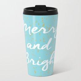 Merry and Bright Metal Travel Mug