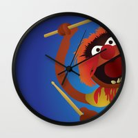 muppets Wall Clocks featuring Animal - Muppets Collection by Bryan Vogel