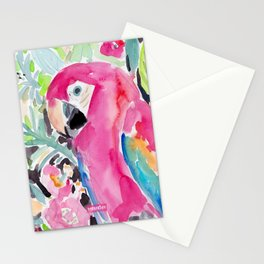 SCARLET THE MACAW Stationery Cards