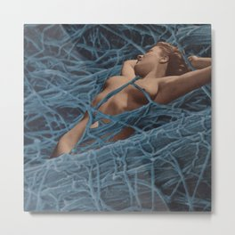 Tangled Up In Blue Metal Print