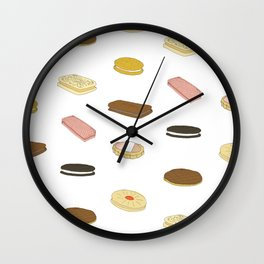 biscui - biscuit pattern Wall Clock