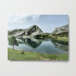 Enol lake in Covadonga, Asturias Metal Print