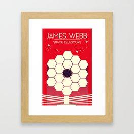 james webb space telescope, Framed Art Print