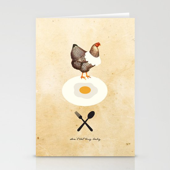 Don't Eat My Baby. Stationery Cards