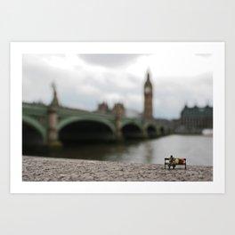 London homeless. Art Print