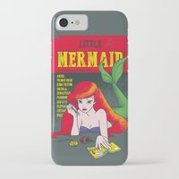 pulp iPhone & iPod Cases featuring Pulp Mermaid by Pinfloi