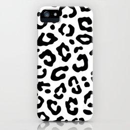 White Leopard iPhone Case