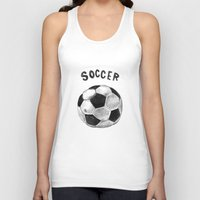 soccer Tank Tops featuring Soccer by Matthias Leutwyler