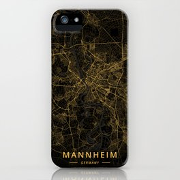 Mannheim, Germany - Gold iPhone Case