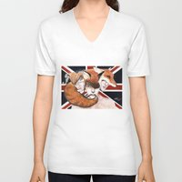 union jack V-neck T-shirts featuring Union by Melpo