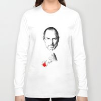 steve jobs Long Sleeve T-shirts featuring Steve Jobs by lovetoclick