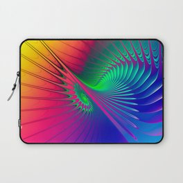 Outburst Spiral Fractal neon colored Laptop Sleeve