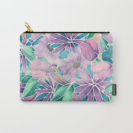 Blossoming - lilac, mint & aqua  Carry-All Pouch