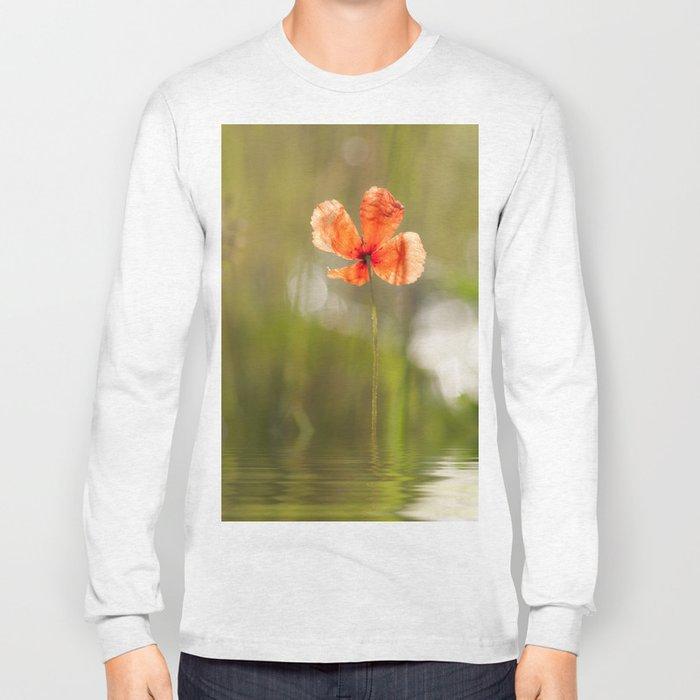 Swimming Poppyblossom Poppy Poppies Long Sleeve T-shirt