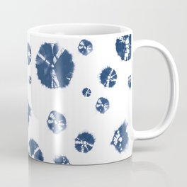 Shibori Polka Splotch Indigo Blue Coffee Mug