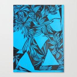 Pretty in electric blue Canvas Print
