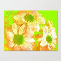 vintage flowers Canvas Prints featuring Vintage Flowers by Vitta