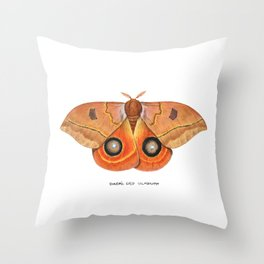 Randa's Eyed Silkmoth (Automeris randa) Throw Pillow