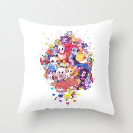 UNDERTALE MUCH CHARACTER Throw Pillow