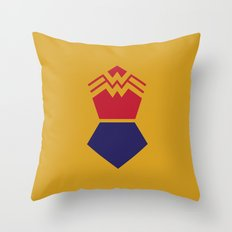 WonderWoman Alternative Minimalist Poster Throw Pillow