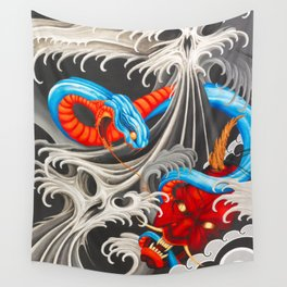 Demon Water Rivals Wall Tapestry