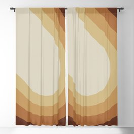 Retro Brown Blackout Curtain