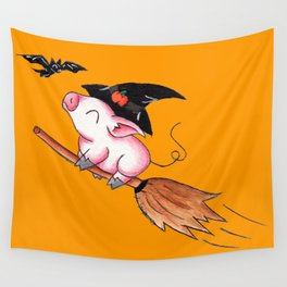 Pigs Fly in Salem Wall Tapestry