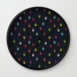 Multicolored Lights at Night Wall Clock