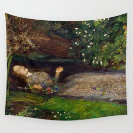 Ophelia by John Everett Millais (1851) Wall Tapestry
