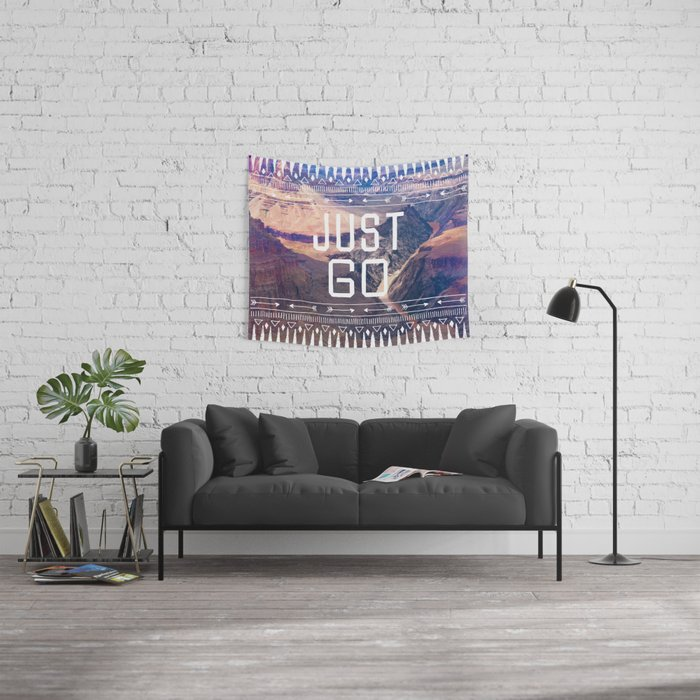 JUST GO Wall Tapestry