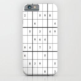 Sudoku Series: Medium Level - Mono iPhone Case
