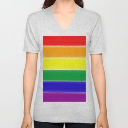 Prideful Loverly Rainbow Wonders Unisex V-Neck
