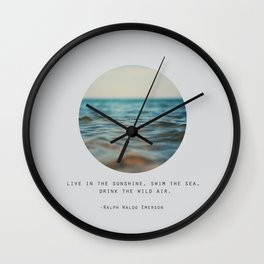 Swim The Sea #2 Wall Clock
