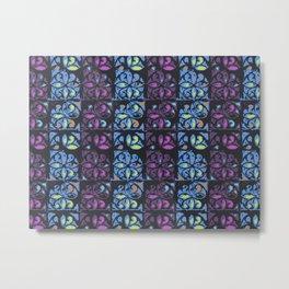 Fake Damask pattern Metal Print