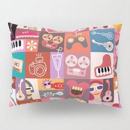 Entertainment Art Collage Pillow Sham