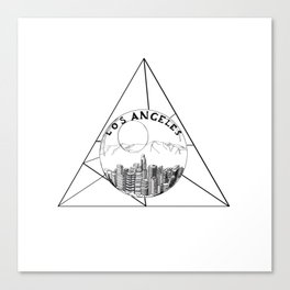 Graphic . geometric shape gray Los Angeles in a bottle Canvas Print
