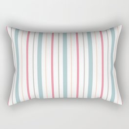 Blue Coral Pin Stripes Rectangular Pillow