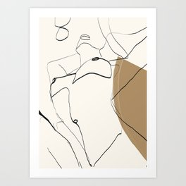 abstract nude 2 Art Print